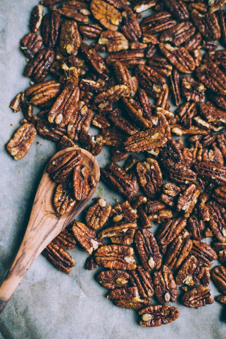 coconut sugar pecans with cinnamon and turmeric | recipe via willfrolicforfood.com