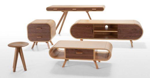 Fonteyn, une table basse en chêne et noyer   made.com