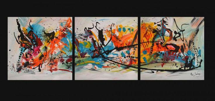 """Nouveau tableau abstrait contemporain """"le chemin fantastique"""" de l'artiste peintre ame sauvage http://www.amesauvage.com"""