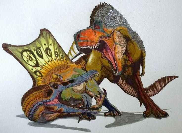 Tyrannosaurus rex vs Spinosaurus aegpytiacus