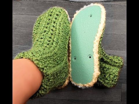 How to Loom Knit Booties for Flip Flop Bottoms - YouTube