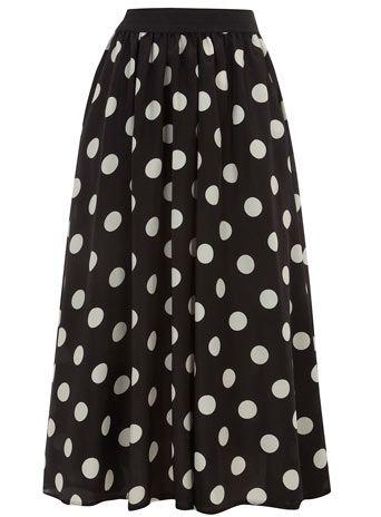 Black polka dot 50s skirt