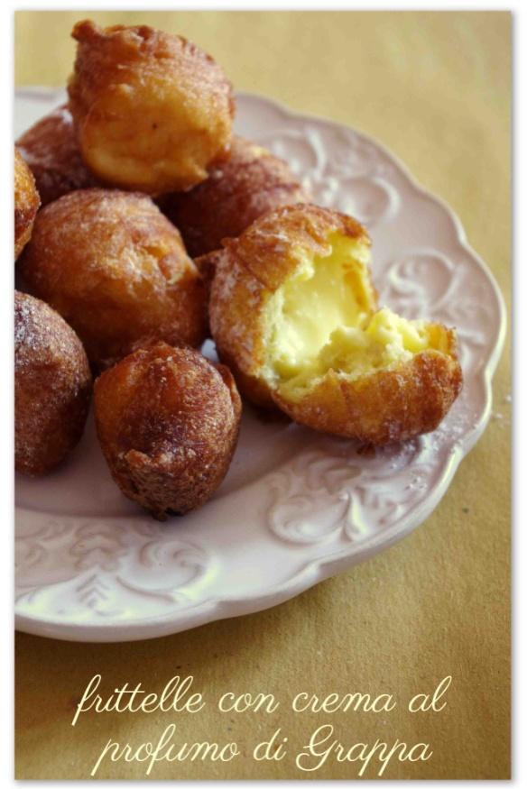 Frittelle con crema al profumo di #Grappa Poli >> non solo a Carnevale!