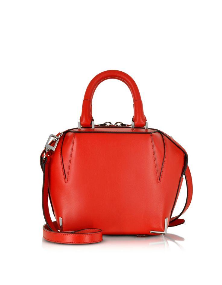 Alexander Wang Mini Emile Cult Red Leather Satchel w/Shoulder Strap at FORZIERI