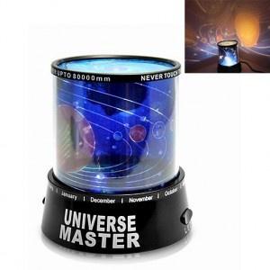 El universo en movimiento al alcance de tu mano... Un mundo que se abre para ti con universe star!    Un gadget que te mostrará el sistema solar en cualquier superficie: Techo, paredes o puertas.