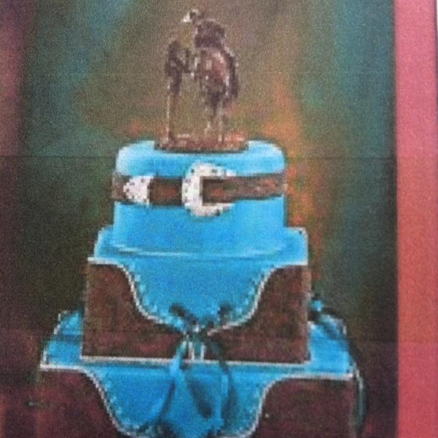 Teal Wedding Cake Ideas