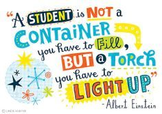 #Einstein #quote  by Linzie Hunter  #lettering      Just for the Joy of it...Client: ASCD