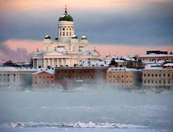 The iconic Helsinki Cathedral is the symbol of #Helsinki for many. Picture: Niclas Sjöblom/Visit Helsinki #cathedral #visithelsinki #sea #silhouette