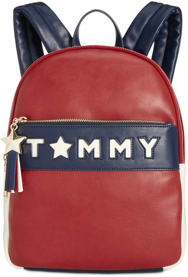 Sale 70 80 Tommy Hilfiger Logo Story Smooth Small Backpack A Bright Star Tassel Brings Iconic Design To A Smooth Tommy Hilfiger Backpack Backpacks In 2019