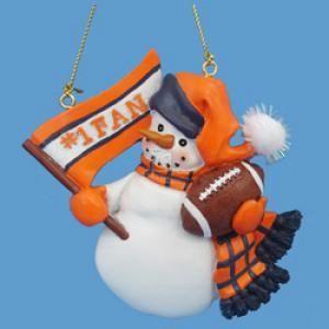 "Chicago Football ""#1 Fan"" Snowman Ornament"