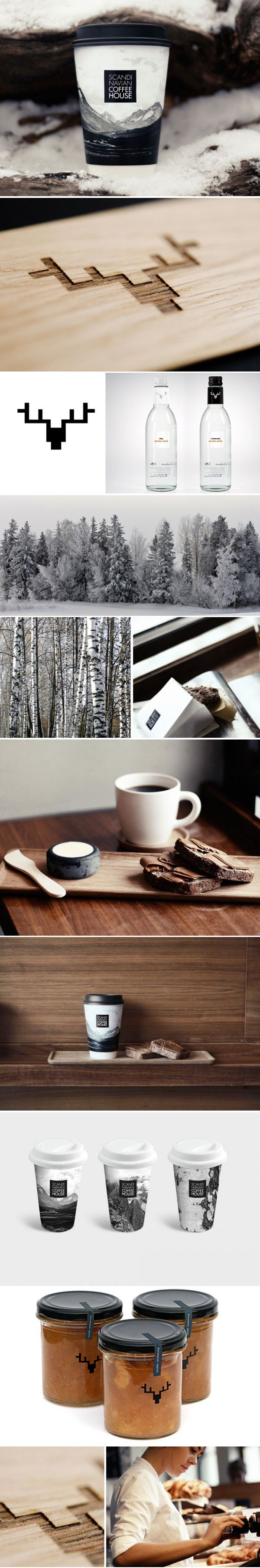 Time for coffee from Scandinavian Coffee House #identity #packaging #branding #marketing PD