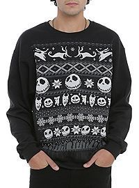 Nightmare Before Christmas sweater available at Hot Topic