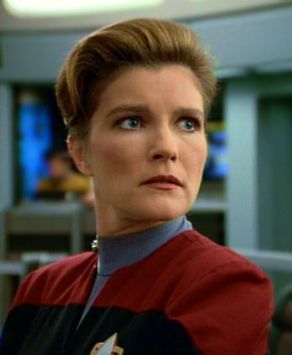 Voyager - CAPTAIN Kathryn Janeway - Strong, independent, intelligent, beautiful, well-rounded woman in charge. Inspiration for my own evolving female protagonists.