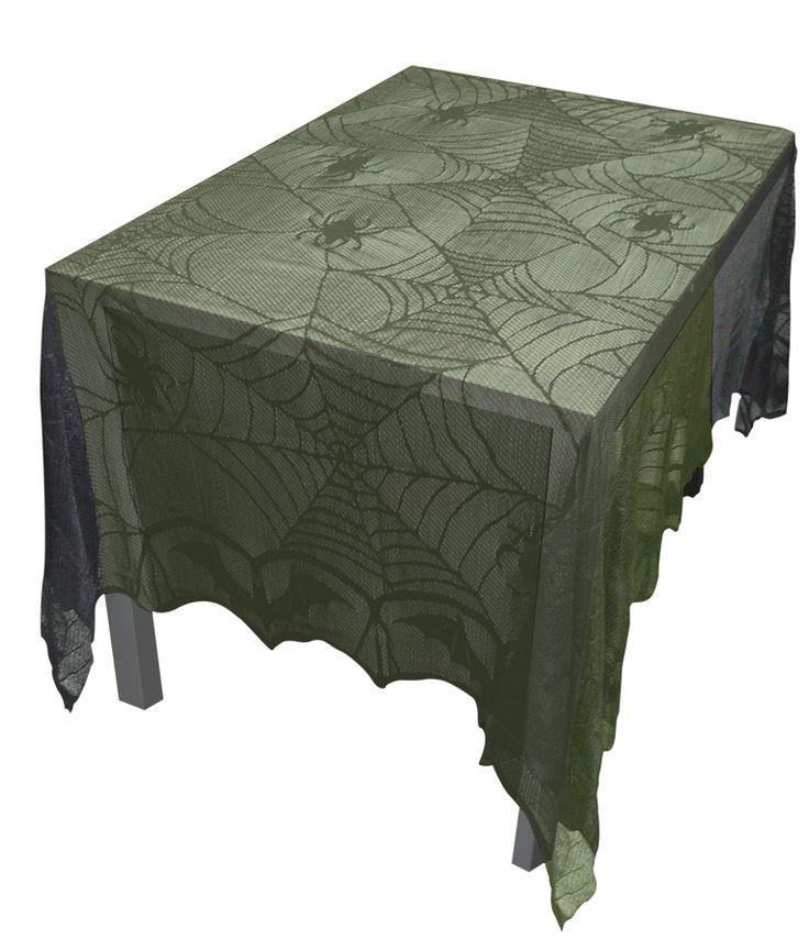 Halloween FX Props - Lace Decor Tablecloth 48 X 96, $10.95…