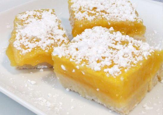 Ingredient Lemon Cake Bars