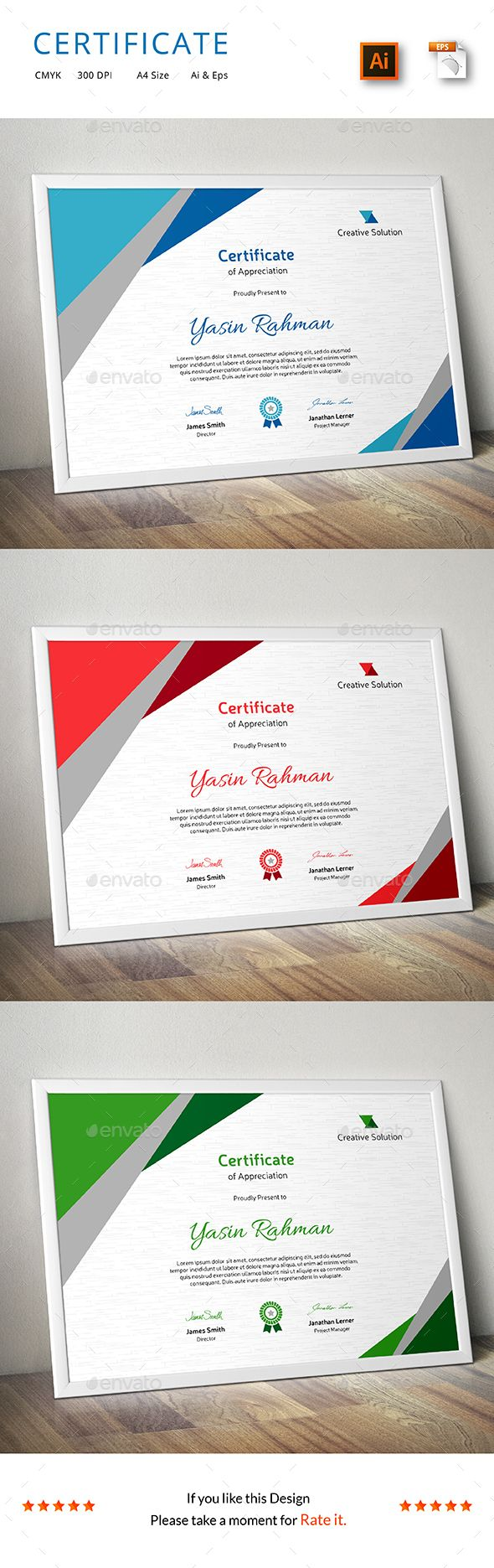 Certificate Template Vector EPS, AI. Download here: http://graphicriver.net/item/certificate/14165556?ref=ksioks