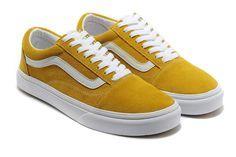 Vans Old Skool Suede Chaussures de skate Womens jaune Pascher