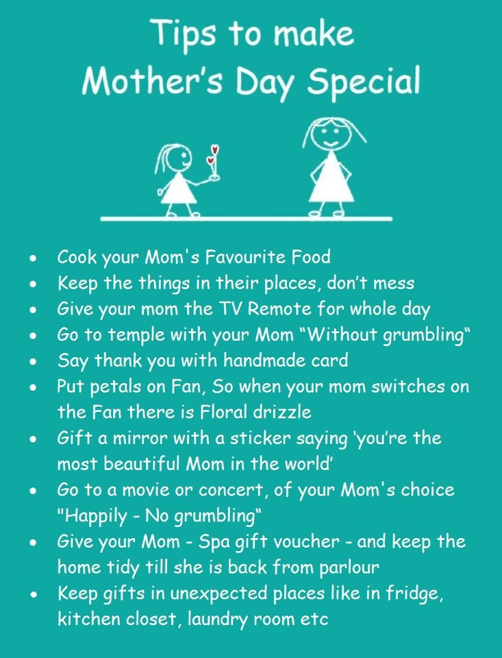 Make mommy feel special this mother's day :)