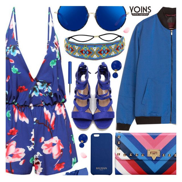 """""""Yoins"""" by pastelneon ❤ liked on Polyvore featuring Matthew Williamson, Balmain, Bling Jewelry and Urban Decay"""