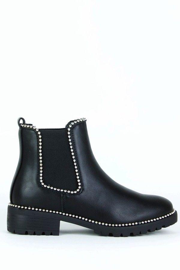 Alex Black Stud Chelsea Boots | Boots
