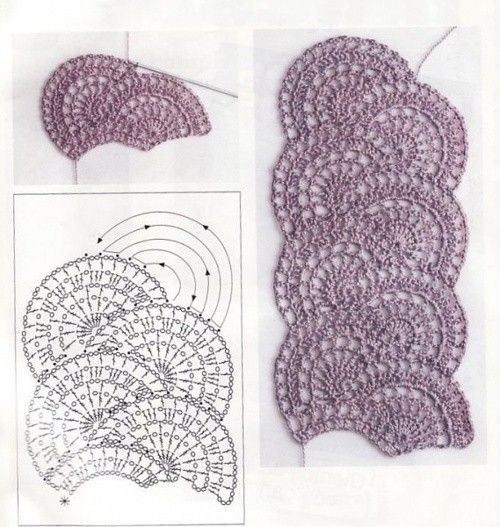 Free Crochet Pattern Scallop Scarf : Fan Stitch Scarf free crochet graph pattern Crochet ...