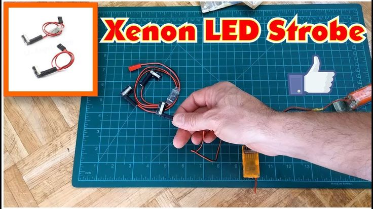 Xenon LED Strobe Flashlightt Daytime Visibility For RC Airplane from ban...