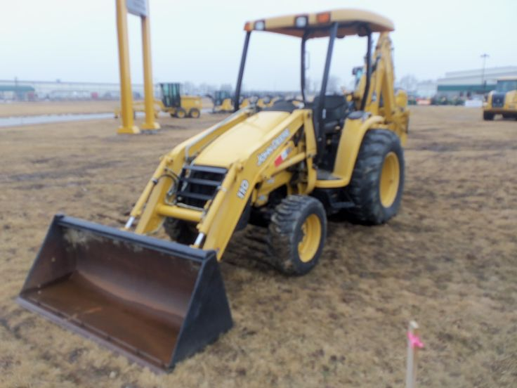 JOhn Deere 110 backhoe loader # 1