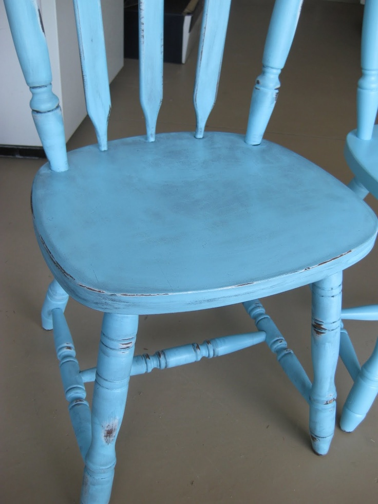 Our Journey Through Life: Antique- Aqua Refinished Chairs
