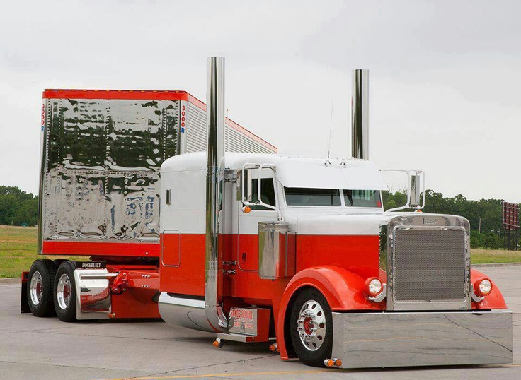 Trucks Custom Big Rig Orange : Best images about custom big rigs on pinterest