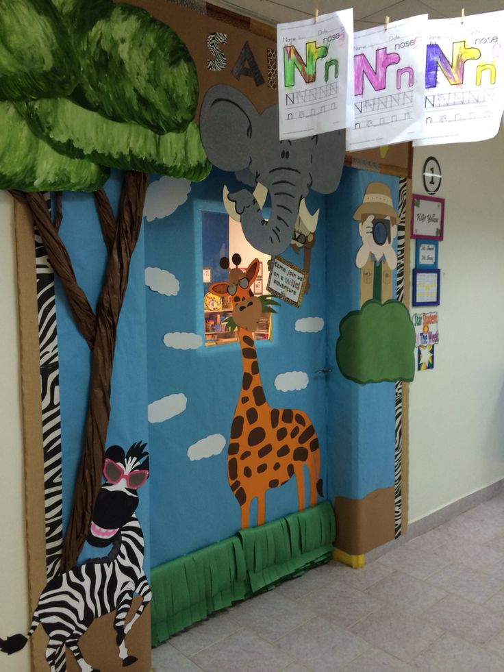 Classroom Decoration Jungle : Best images about bulletin board and door decorations
