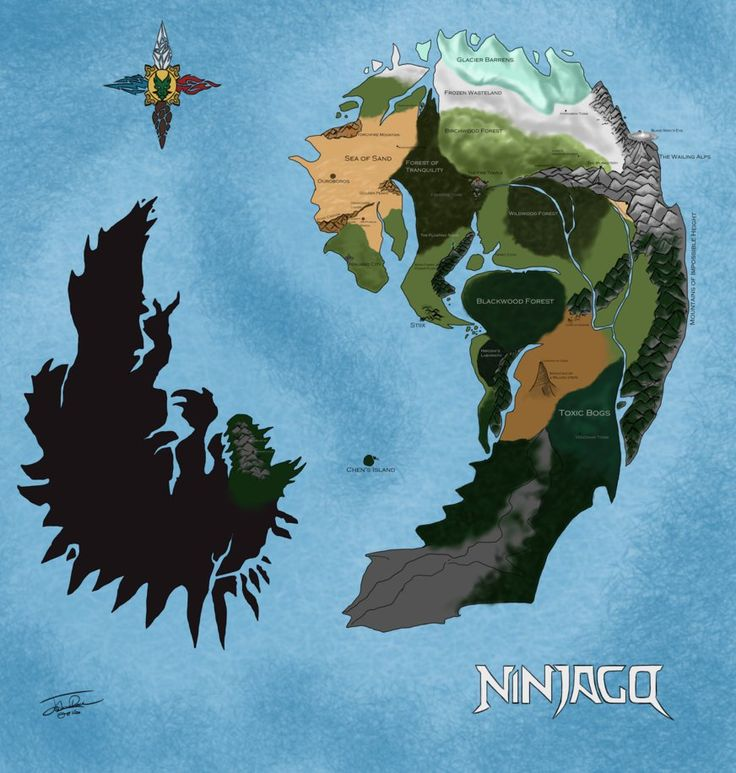 Map of Ninjago by joshuad17.deviantart.com on @DeviantArt << Okay, seriously. This guy's fanart is REALLY cool! He is officially me favorite Ninjago fanartist.