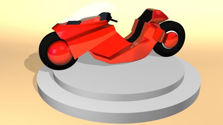 Modelado de moto Akira en 3D #akira #3D #modelado