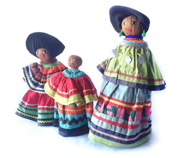 Vintage 1965 Seminole Florida Indian Native American Palmetto Dolls Baby beads by LGKresto on Etsy