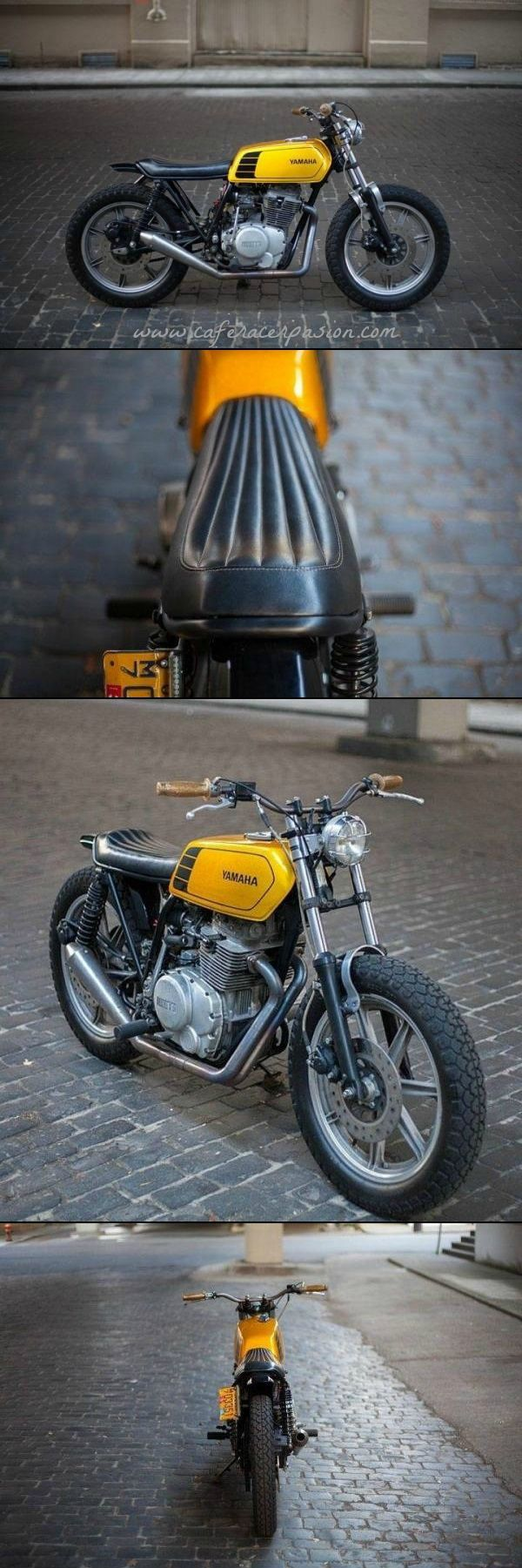 Yamaha XS400 Street Tracker by New Church Moto #motorcycles #streettracker #motos | caferacerpasion.com
