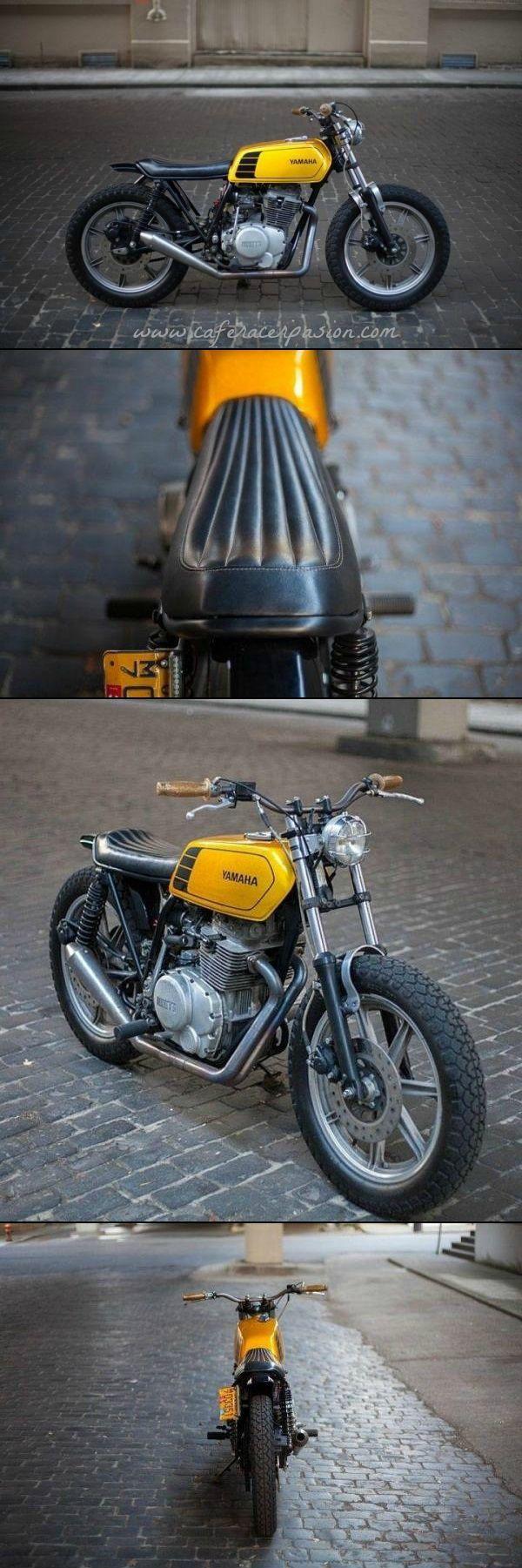 Yamaha XS400 Street Tracker by New Church Moto #motorcycles #streettracker #motos | caferacerpasion.com