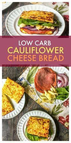 This low carb cauliflower cheese bread is a fun way to eat a low carb sandwich. Easy to make and versatile too. Only 2.7g net carbs per piece.