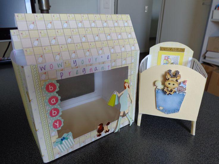 Baby Crib in a Box - Pregnant Mum - Construction Card