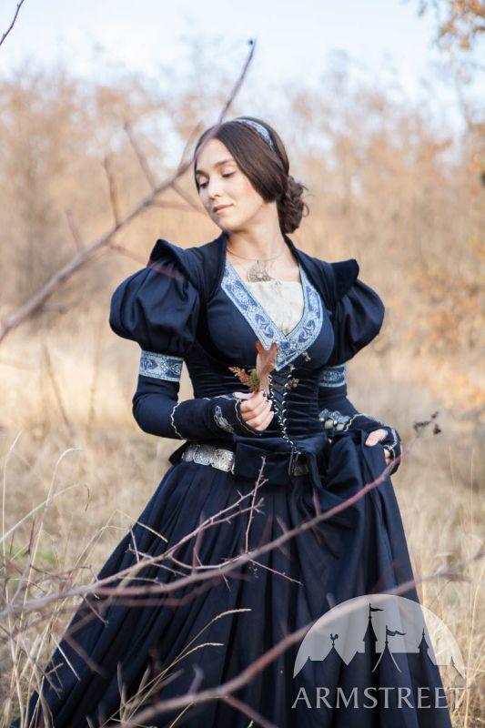 Costume médiéval du robe et corsage «Princesse Exilée»