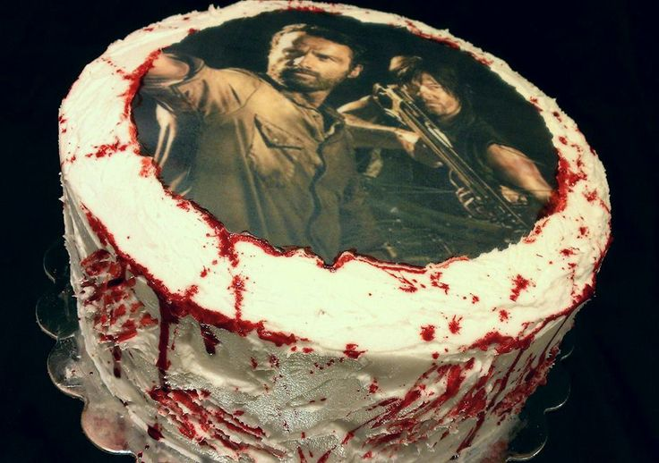Rick Amp Daryl Walking Dead Cake Holiday Cakes Pinterest