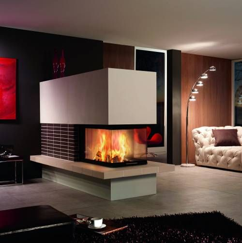 double sided fireplace home deco ideas pinterest