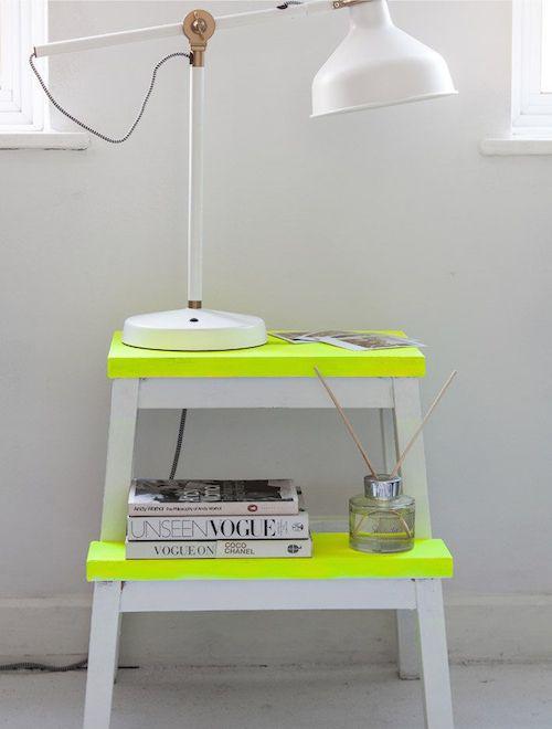 Ikea hocker lackieren in cooler Farbe