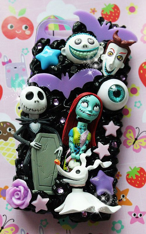 cutekawaii 'Nightmare before Xmas Jack n Sally' Whipped Cream Frosting Kawaii Decoden Phone Case - ANY PHONE MODEL - please read description by cutekawaiideco on Etsy https://www.etsy.com/listing/214423524/cutekawaii-nightmare-before-xmas-jack-n
