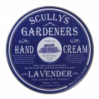 Helps repair dry and damaged skin leaving hands soft and smooth. Free of parabens this non-greasy and fast absorbing cream is perfect for all skin types. http://www.scullys.net.nz/afawcs0157372/CATID=171/ID=149/SID=197495747/Gardeners-Hand-Cream.html