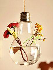 """Table maîtresses belle vase ampoule suspendue avec 78 3/4 """"deocrations de table de la corde de chanvre"""