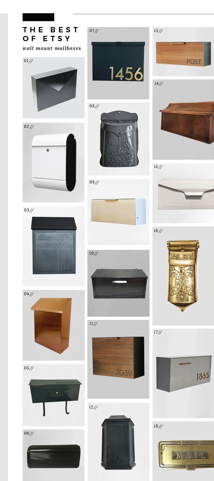 Best Of Etsy Wall Mount Mailboxes Room For Tuesday Blog Wall Mount Mailbox Mailbox On House Wall Mounted Mailbox