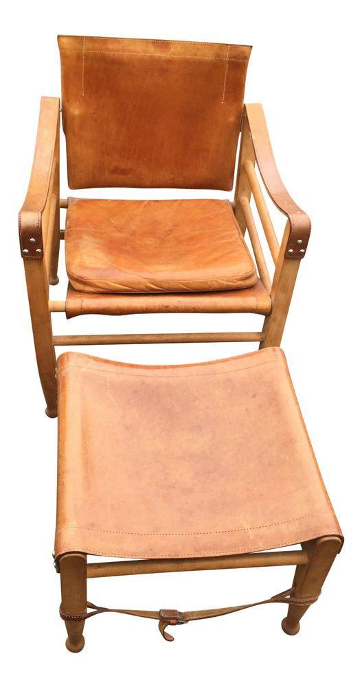 Børge Mogensen safarichair leather danish design brandtcopenhagen