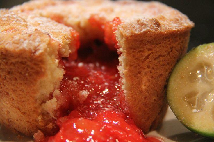 Rhubarb & Fejjoa Pie