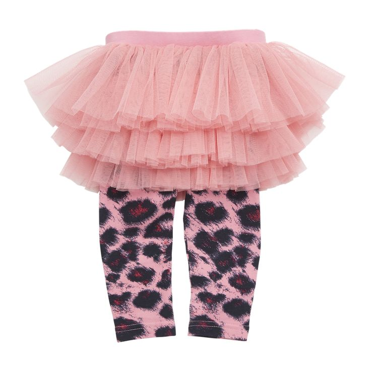 Rock Your Baby - Pink Leopard Circus Tights