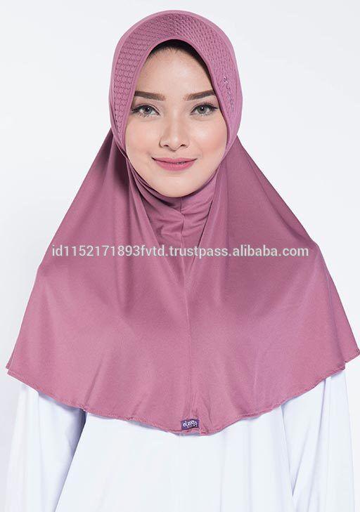 Hot Sell Instant Hijab Elzatta Zaria M Almeria Mauve Wood Hijab For The world