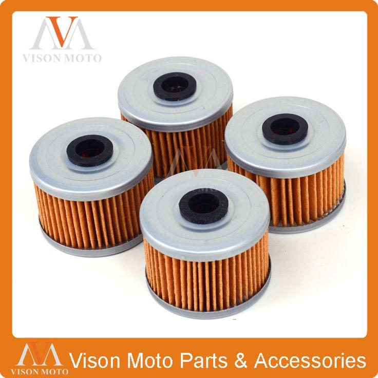 4PCS Motorcycle Oil Filter Cleaner For KAWASAKI KFX450R KLX110 KSR110 BN125 KLX125 KLX140 KL250 KLX 250 300 KLX300 KLX450 KX450